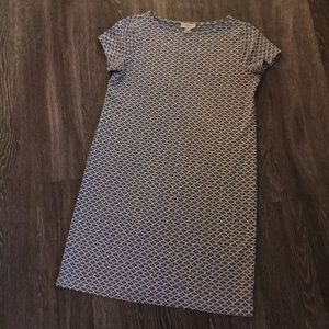 🌟 Loft Patterned Short Sleeved Dress - M